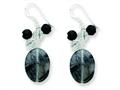 Finejewelers Sterling Silver Black Agate/crystal/tourmalinated Qtz Earrings