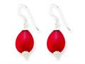 Sterling Silver Red Agate Earrings