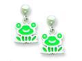 Sterling Silver Frog Resin Earrings