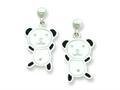 Panda Resin Bear Earrings
