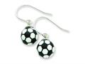 Sterling Silver Soccerball Resin Earrings