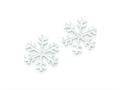 Sterling Silver and Cubic Zirconia Polished Snowflake Post Earrings