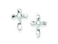 Finejewelers Sterling Silver Cubic Zirconia Cross Post Earrings