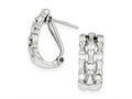 Sterling Silver Cubic Zirconia Triple-strand Earrings