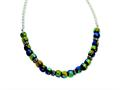 Sterling Silver Dichroic Glass Beaded 17in Necklace