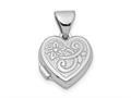Finejewelers Sterling Silver Rhodium-plated Scrolled Heart Locket Pendant Necklace 18 inch chain included