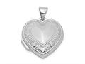 Finejewelers Sterling Silver Rhodium-plated Heart Locket Pendant Necklace 18 inch chain included