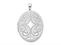 Finejewelers Sterling Silver Rhodium-plated Oval Scroll 6-frame Locket Pendant Necklace 18 inch chain included