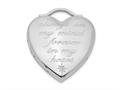 Finejewelers Sterling Silver Rhodium-plated Always On My Mind Forever In My Heart Locket Pendant Necklace 18 inch chain
