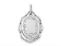 Finejewelers Sterling Silver Rhodium-plated 21x16mm Oval Locket Pendant Necklace 18 inch chain included