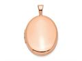 Finejewelers Sterling Silver Rose Gold-plated 20mm Polished Oval Locket Pendant Necklace 18 inch chain included