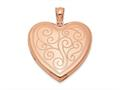 Finejewelers Sterling Silver Rose Gold-plated 24mm Swirl Design Heart Locket Pendant Necklace 18 inch chain included