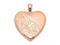 Finejewelers Sterling Silver Rose Gold-plated 24mm Scrolled Heart Family Locket Pendant Necklace 18 inch chain included