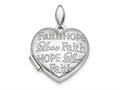Finejewelers Sterling Silver Rhodium-plated Faith Hope Love Heart Locket Pendant Necklace 18 inch chain included