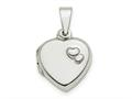 Finejewelers Sterling Silver Polished 13mm Heart Locket Pendant Necklace 18 inch chain included