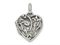 Finejewelers Sterling Silver Antiqued Filigree Locket Pendant Necklace Pendant 18 inch chain included