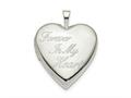 Finejewelers Sterling Silver 20mm Forever In My Heart Heart Locket Pendant Necklace 18 inch chain included