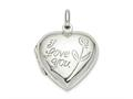 Finejewelers Sterling Silver Heart Locket Pendant Necklace 18 inch chain included