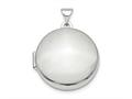 Finejewelers Sterling Silver Rhodium-plated Polished Domed 20mm Round Locket Pendant Necklace 18 inch chain included