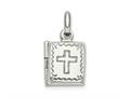 Finejewelers Sterling Silver Bible Locket Pendant Necklace 18 inch chain included