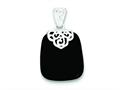 Sterling Silver Black Onyx Pendant Necklace - Chain Included