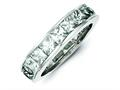 Finejewelers Sterling Silver Cubic Zirconia Eternity Band