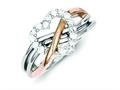 Finejewelers Sterling Silver And Polished CZ Heart Ring