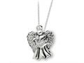 Sentimental Expressions(tm) Sterling Silver Antiqued Angel of Faith 18 Inch Necklace