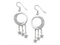 Sentimental Expressions(tm) Sterling Silver and CZ I Promise You the Moon and Stars Dangle Earrings
