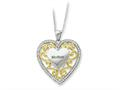 Sentimental Expressions(tm) Sterling Silver and Mother 18 Inch Heart Necklace