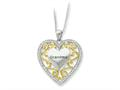 Sentimental Expressions(tm) Sterling Silver and Grandma 18 Inch Heart Necklace