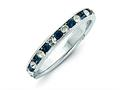 Finejewelers Sterling Silver Blue and White Cubic Zirconia Eternity Band