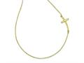 Finejewelers 14k Yellow Gold Large Sideways Curved Cross Necklace