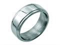 Chisel Stainless Steel Ridged Edge 8mm Polished Weeding Band