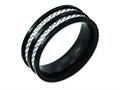 Chisel Stainless Steel 8mm Black Ip-plated Grey Carbon Fiber Polished Weeding Band
