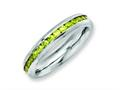 Chisel Stainless Steel 4mm November Yellow CZ Ring