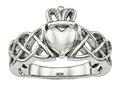 Chisel Stainless Steel Polished Claddagh Ring