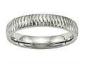 Chisel Stainless Steel Polished Textured Ring