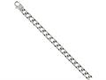 Chisel Stainless Steel Polished Square Link 8.5in Bracelet