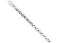 Chisel Stainless Steel Polished Fancy Squares Link Bracelet