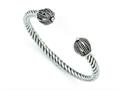 Chisel Stainless Steel Antiqued Twisted Cuff Bracelet