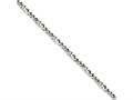 Chisel Stainless Steel Polished 4mm Figaro Bracelet
