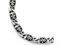 Chisel Stainless Steel Polished/antiqued Fleur De Lis Bracelet