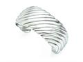 Chisel Stainless Steel Polished Cuff Bangle