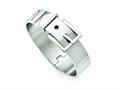 Chisel Stainless Steel Polished Hinged Buckle Bangle