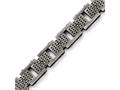 Chisel Stainless Steel Brushed W/cz Bracelet