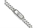 Chisel Stainless Steel Polished And Antiqued Cross Bracelet
