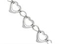 Chisel Stainless Steel Polished Hearts Bracelet
