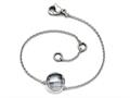 Chisel Stainless Steel Polished Grey Glass W/1in Ext Bracelet