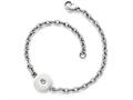 Chisel Stainless Steel Polished Crystal Bracelet